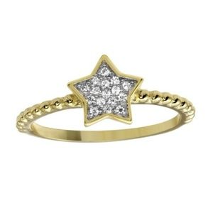 Jewelry - Sterling Silver 925 Gold Plated Small Star Ring